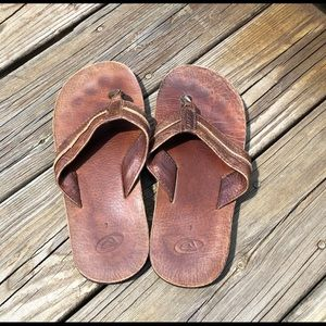 Reef brown leather sandals, size 7